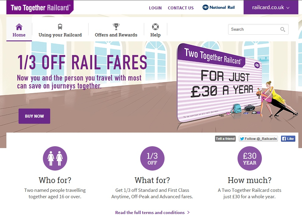 how to use two together railcard